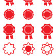 Set of red stickers. — Stock Vector