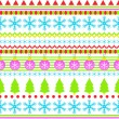 New Year seamless background pattern from the ranks of snowflakes and Christmas trees. — Stock Vector