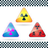 Danger sign of radioactivity.Vector. — Stock Vector