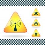 Set of Triangular Warning Hazard Signs — Stock Vector #39403645