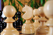 Chessman horse closeup. — Stock Photo