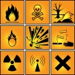 Set of warning signs. — Stock Vector