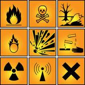 Set of warning signs. — Stock Vector