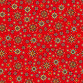 Bright seamless pattern of randomly arranged flowers. — Stock Vector