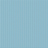 Seamless knitted pattern monochrome bluish color. — Stock Vector