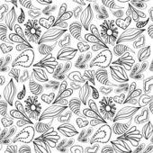 白の抽象的なパターンの黒いアウトライン. — ストックベクタ