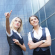 Business women over modern background - Foto de Stock