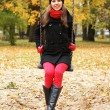 Young attractive girl in autumn park - Foto de Stock