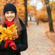 Young attractive girl in autumn park — Stock Photo #14931775