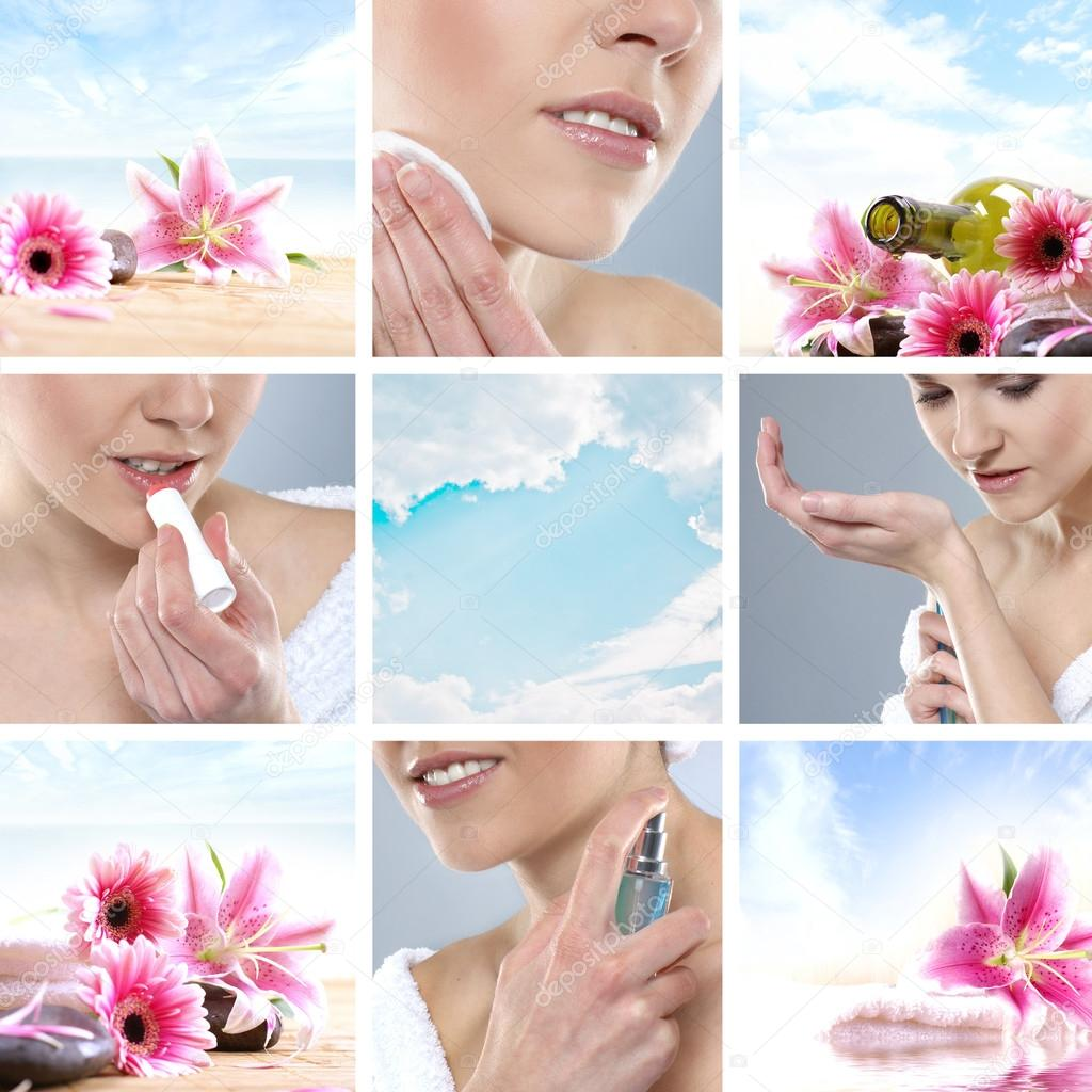 Beautiful spa collage made of many elements — Stock Photo #14932521