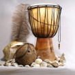 Ancient drum - Stock Photo