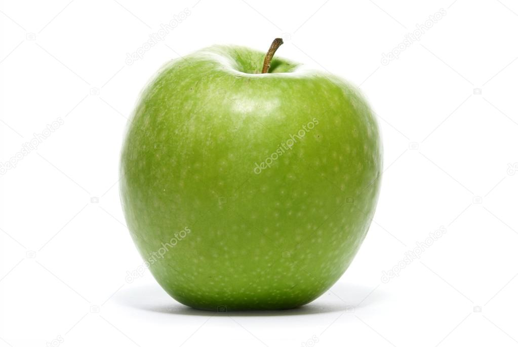 Green tasty sweet apple isolated on white background               — Stock Photo #14961671