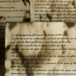 Vintage handwritten Bible pages — Stok fotoğraf