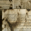 Vintage handwritten Bible pages - Stock Photo