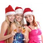 Ritratto di gruppo Natale — Foto Stock
