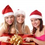 Christmas group portrait — Stock Photo