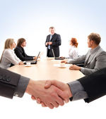 職場でのビジネス グループ — ストック写真