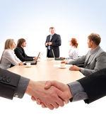 Unternehmensgruppe bei der arbeit — Stockfoto