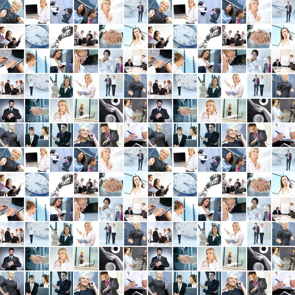 Business collage made of many business pictures  Stock Photo #14977641