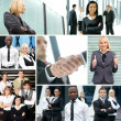 Collage made of some business pictures — Stock Photo