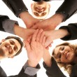 Group handshake with a lot of different hands — Stock Photo #14984029