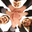 Group handshake with a lot of different hands — Stock Photo