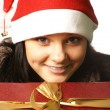 Young attractive adult female with big present — Stock Photo #14989701