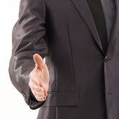Businessman prepares for the handshake — Stock Photo