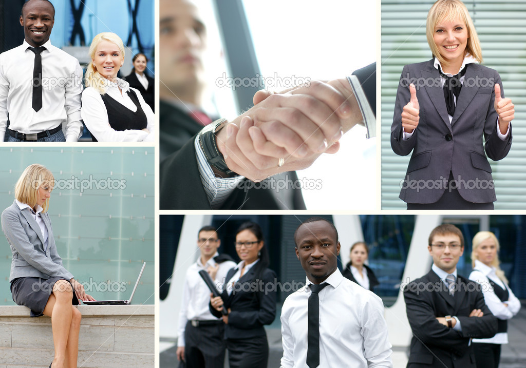 Collage made of some business pictures  Stock Photo #14983291