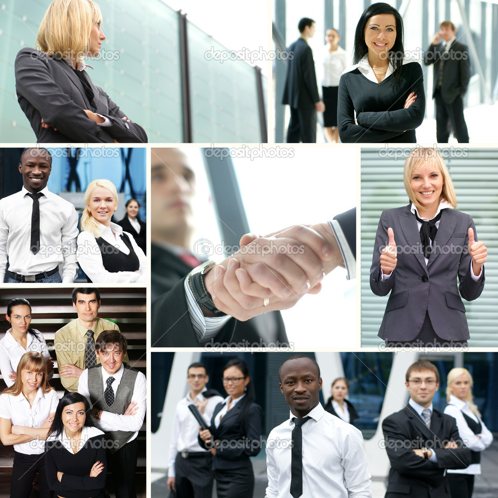 Collage made of some business pictures — Stock Photo #14983293