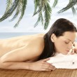 Stok fotoğraf: Attractive woman getting spa treatment