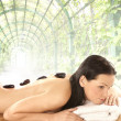 Attractive woman getting spa treatment - Lizenzfreies Foto