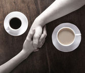 Concept of love and coffee — Stock Photo