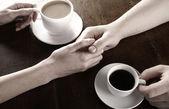愛とコーヒーの概念 — ストック写真
