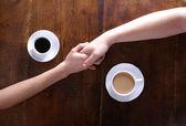 Love and coffee — Stock Photo