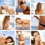 aantrekkelijke vrouw krijgen spa-behandeling — Stockfoto