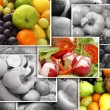 Nutrition collage — Stock Photo #15007511