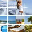 Resort collage — Stock Photo