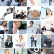 Great collage made of many different images about business style — Stock Photo #15008751