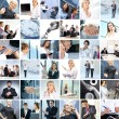 Great collage made of many different images about business style — Stock Photo