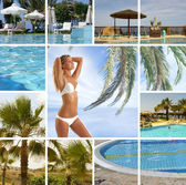 Resort collage — Stock Photo