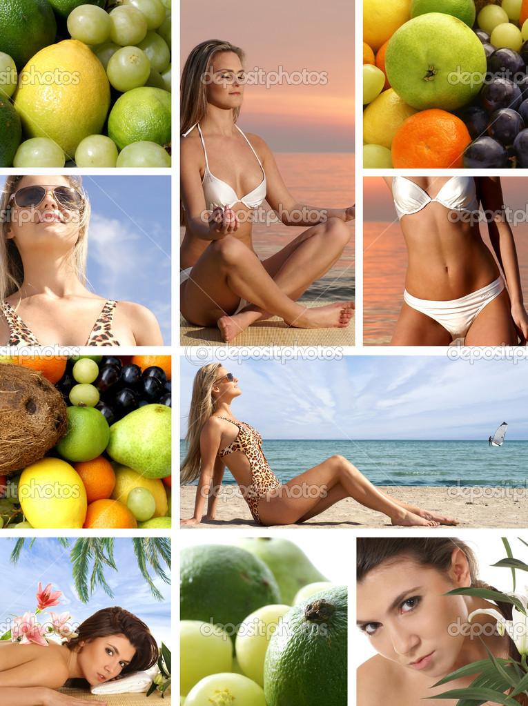 Dieting collage — Stock Photo #15001561