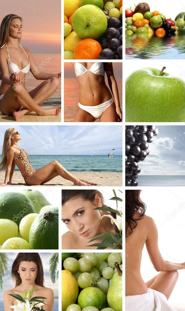 Dieting collage  Stock Photo #15001619