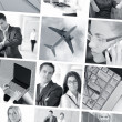 Business collage — Foto de stock #15034693