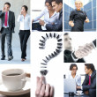 Business-collage — Stockfoto