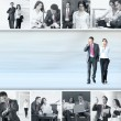 Conceptual collage of businessman and businesswoman — Stock Photo #15035623