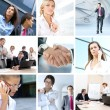 collage de negocios — Foto de Stock