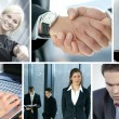 Business collage - Stockfoto