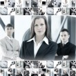 Business collage — Foto de stock #15036687
