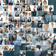 Business collage — Stockfoto